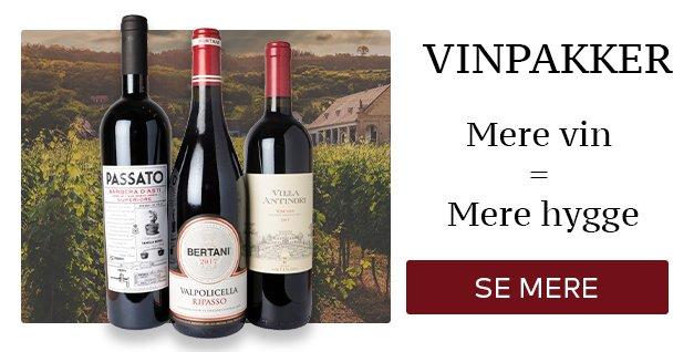 Vinpakker - Mere vin = mere hygge